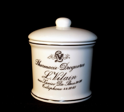 French vintage pharmacy small storage jar bathroom lv ebay for Small bathroom jars