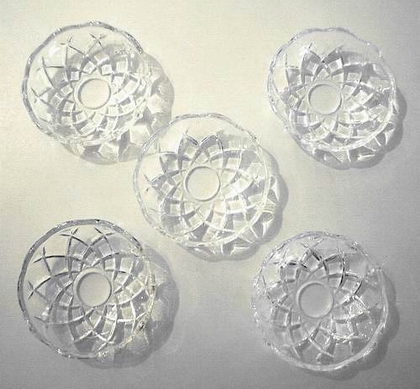 Sale Chandelier Parts 5 X Glass Bobeches Candle Cups Ebay
