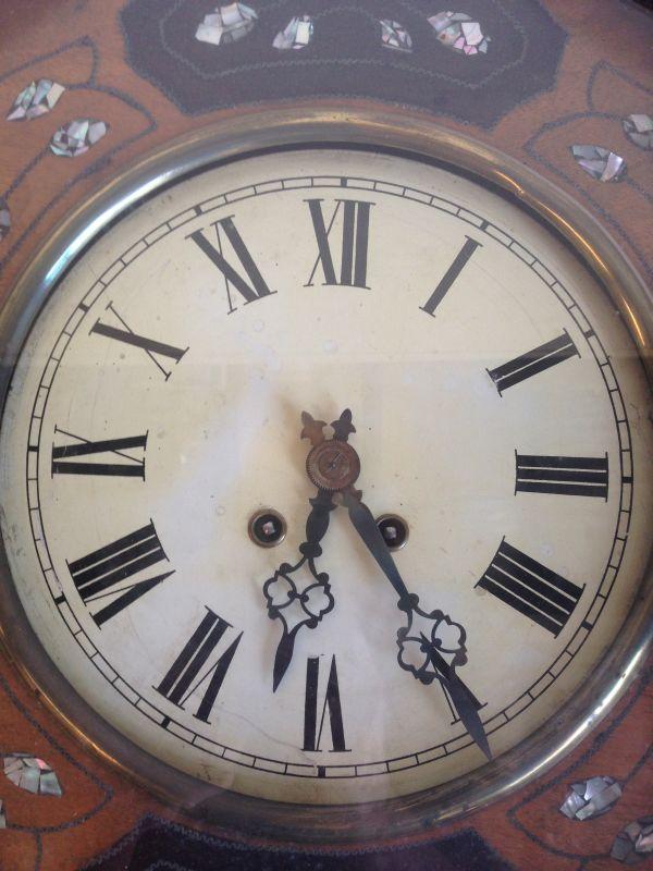 Antique French Large Oeil de Boeuf Oak Wall Clock - e085 View2