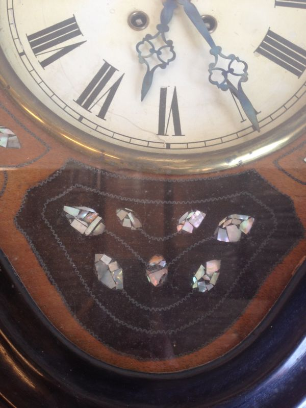Antique French Large Oeil de Boeuf Oak Wall Clock - e085 View3