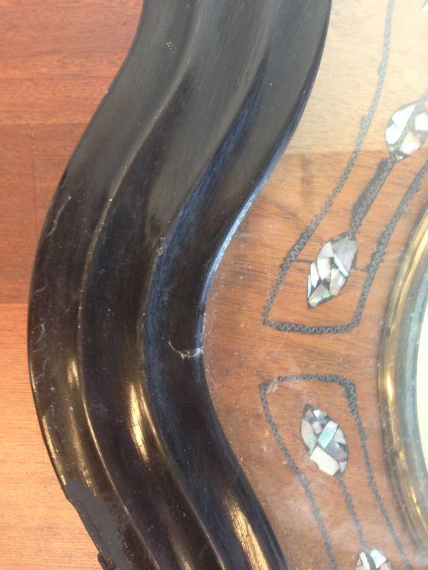 Antique French Large Oeil de Boeuf Oak Wall Clock - e085 View5