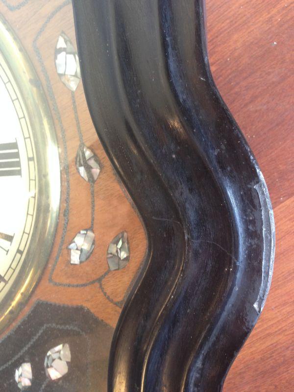 Antique French Large Oeil de Boeuf Oak Wall Clock - e085 View6
