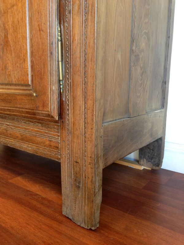 Antique French Walnut Rustic Armoire Cabinet Cupboard Circa 1800's - g123 View9