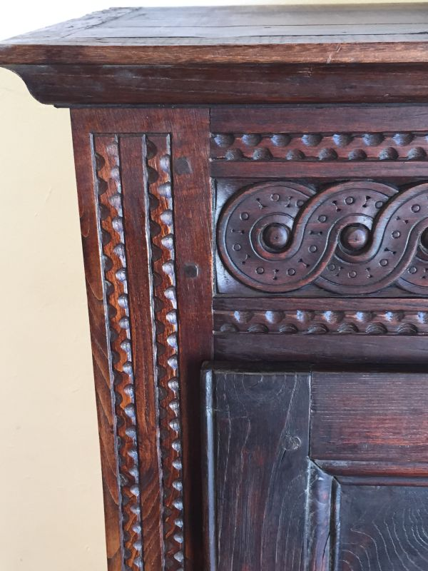 Antique French Breton Oak Bonnetiere Armoire Circa 1880 - h071 	 View5