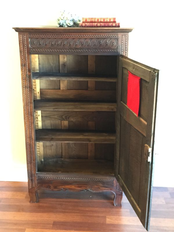 Antique French Breton Oak Bonnetiere Armoire Circa 1880 - h071 	 View6