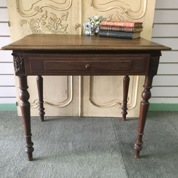 Antique French Henri II Chestnut Writing Table Desk - i118 View2