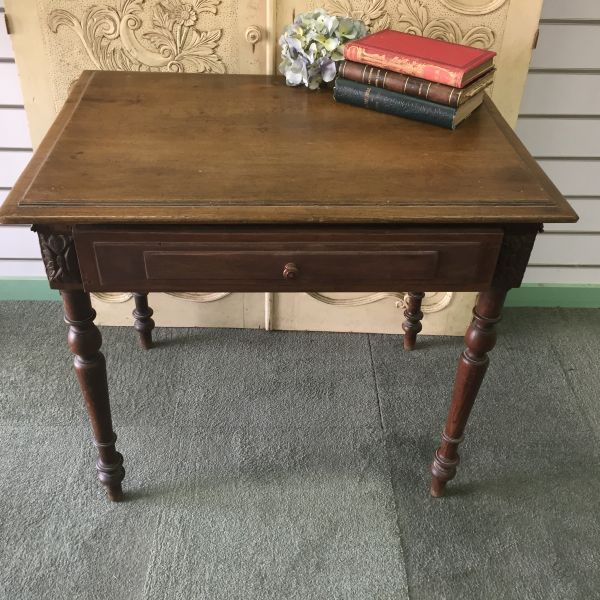 Antique French Henri II Chestnut Writing Table Desk - i118 View3
