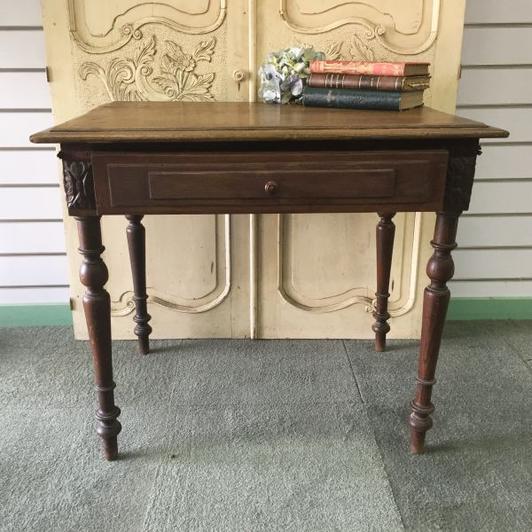 Antique French Henri II Chestnut Writing Table Desk - i118 View4