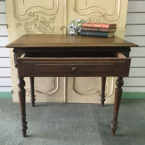 Antique French Henri II Chestnut Writing Table Desk - i118 View5