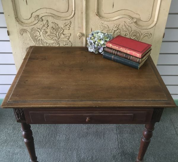 Antique French Henri II Chestnut Writing Table Desk - i118 View7