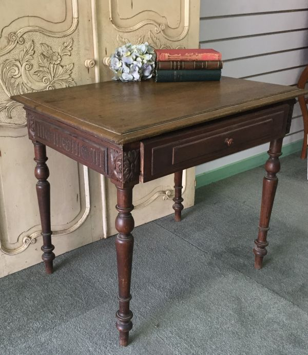 Antique French Henri II Chestnut Writing Table Desk - i118 Main