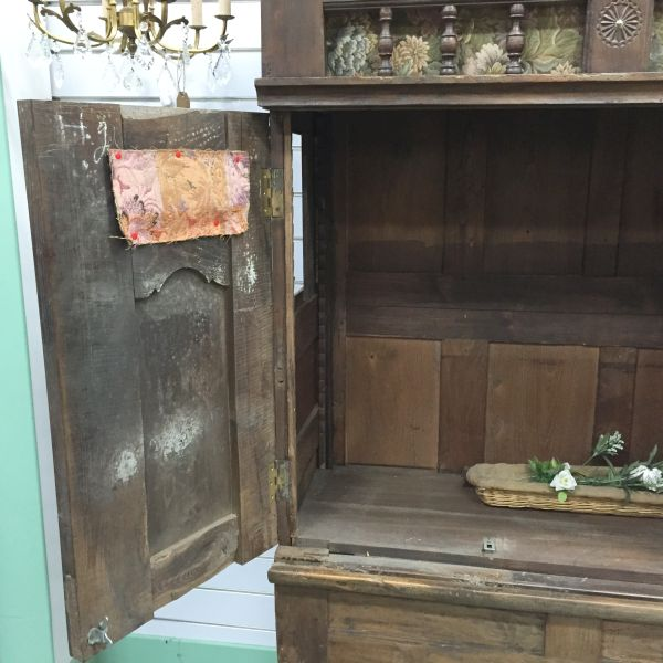 Rare Antique French Oak Lit - Clos Enclosed Bed Fabulous Television Cabinet - Library Bookcase - Bedhead - i252 View8