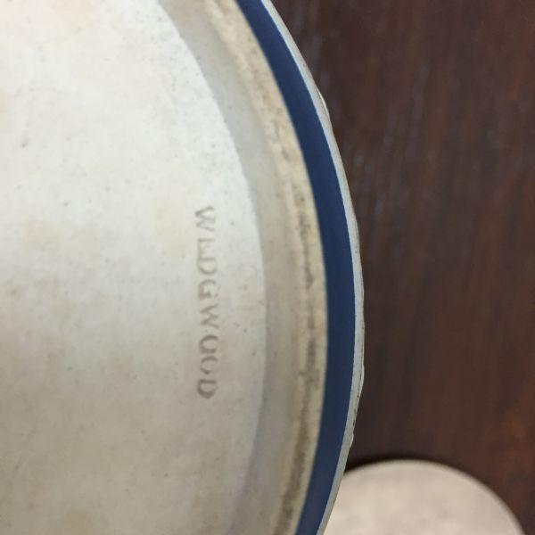 Rare Antique Wedgwood Cobalt Blue Jasper Design Biscuit Barrel - p40w View9