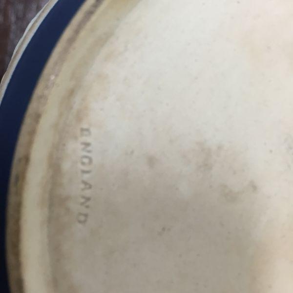 Rare Antique Wedgwood Cobalt Blue Jasper Design Biscuit Barrel - p40w View10