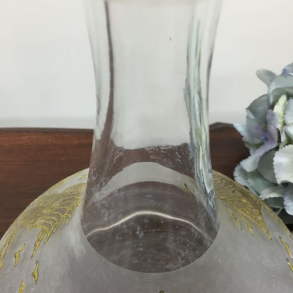 Vintage Gold Embossed Ship's Decanter Wine or Port decanter View7