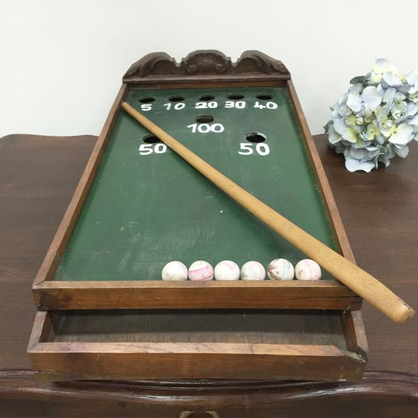 Antique French Table Top Billiard Game - i064 View2