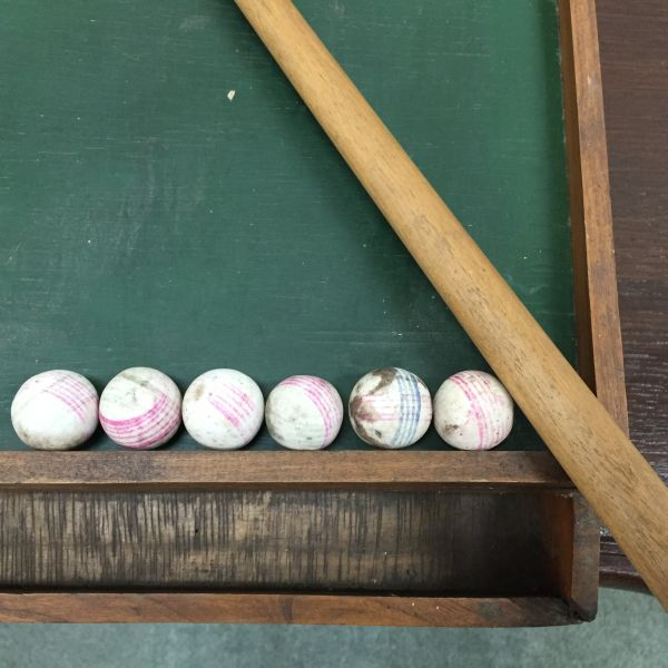 Antique French Table Top Billiard Game - i064 View3