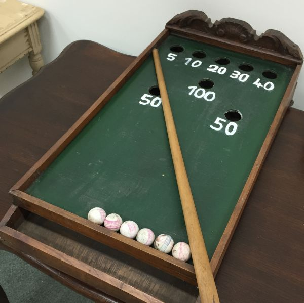 Antique French Table Top Billiard Game   I064 View9