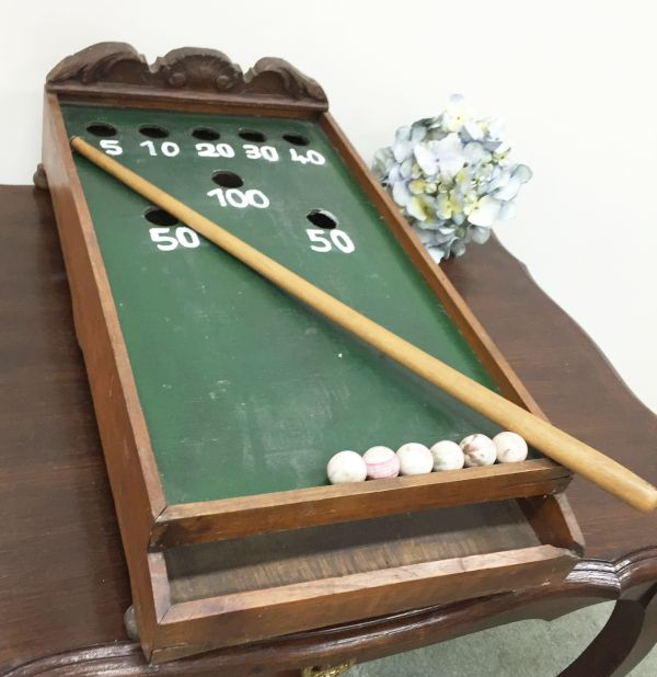 Antique French Table Top Billiard Game - i064 View10