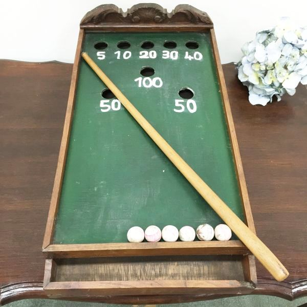 Antique French Table Top Billiard Game - i064 Main
