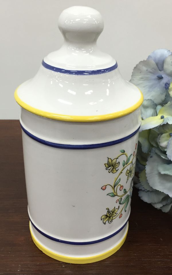Rare Vintage French Pharmacy Apothecary Jar Pot - i078 View2