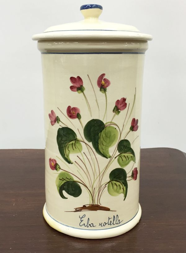 Vintage French Large Pharmacy Jar Pot - i140 Main