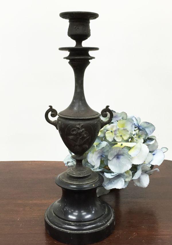 Antique French Bronze Candlelabra Candle Holder - i167b Main