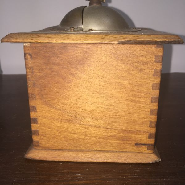 Antique French Oak Coffee Grinder - j093 View7