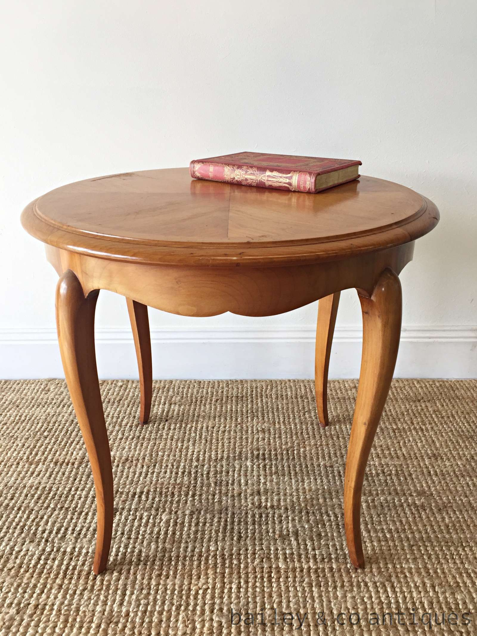 Vintage French Coffee Table Louis Style Cherrywood FC056