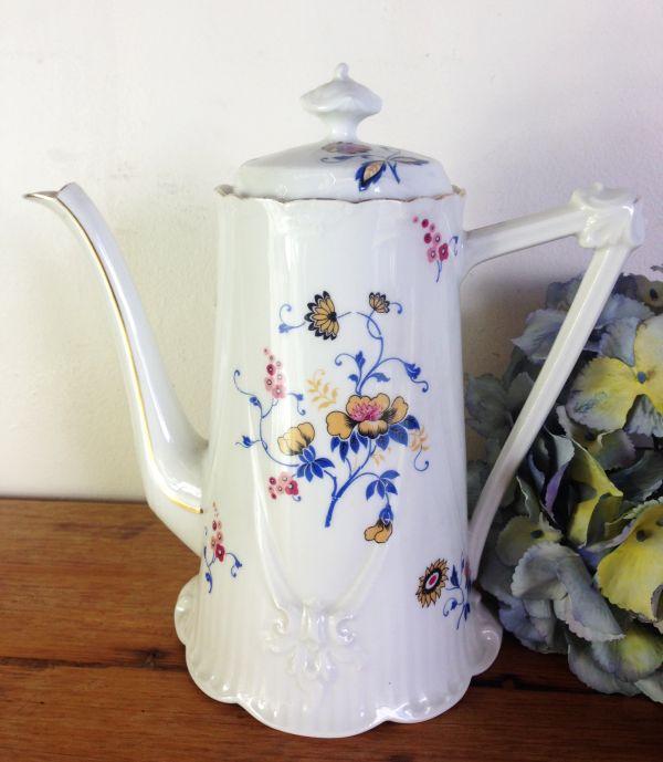 Antique French & Cie Limoges Floral Porcelain Coffee Set - a536 View3