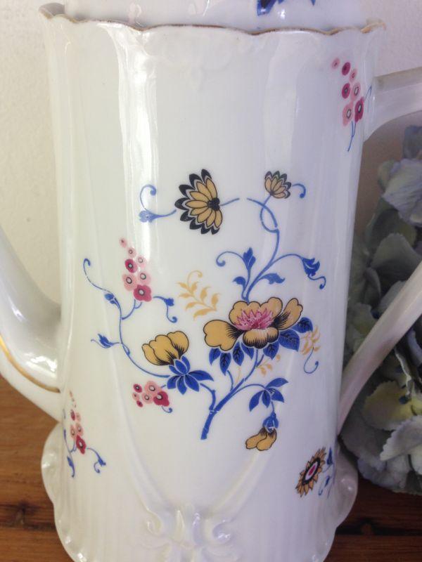 Antique French & Cie Limoges Floral Porcelain Coffee Set - a536 View5