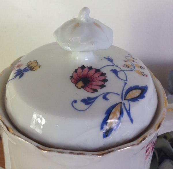 Antique French & Cie Limoges Floral Porcelain Coffee Set - a536 View6