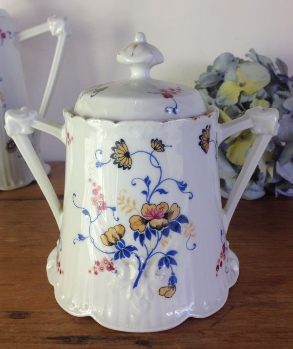 Antique French & Cie Limoges Floral Porcelain Coffee Set - a536 View9