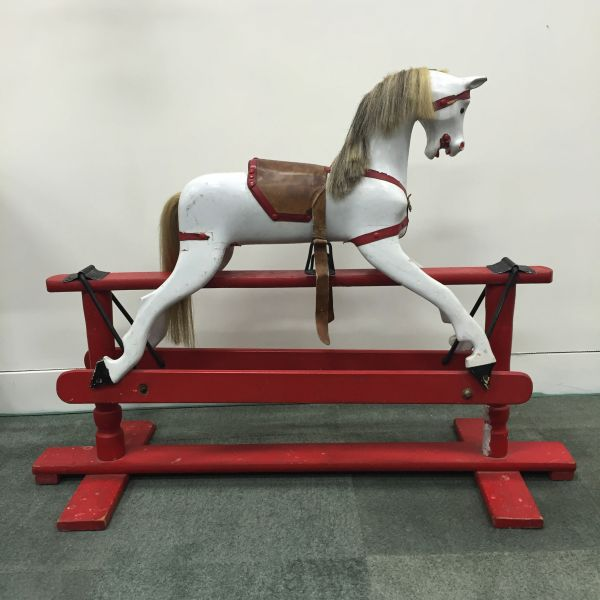 Antique or Vintage Wooden Rocking Horse Small Roebuck - p300 Main
