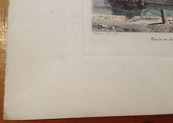 Antique French Petite Marine Aquatint Baugean View3