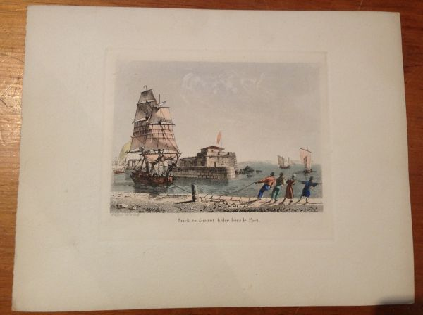 Antique French Petite Marine Aquatint Baugean View6
